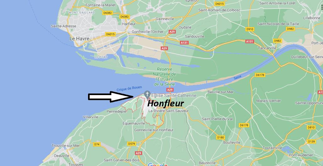 Où se situe Honfleur (14333)