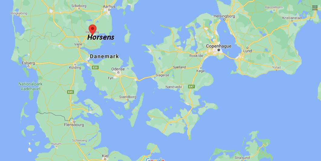 Où se situe Horsens