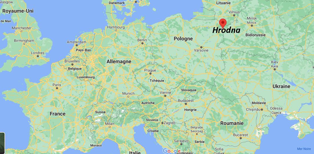 Où se situe Hrodna