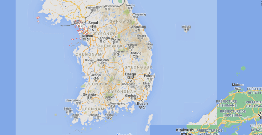 Où se situe Incheon