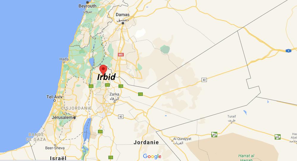 Où se situe Irbid