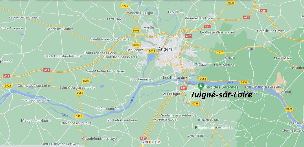 Où se situe Juigné-sur-Loire (49610)