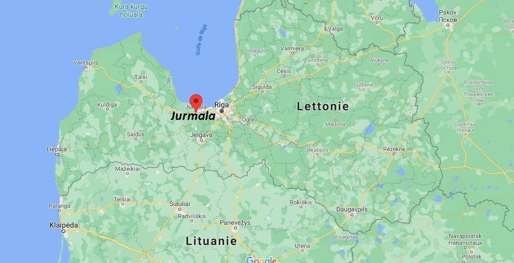 Où se situe Jurmala