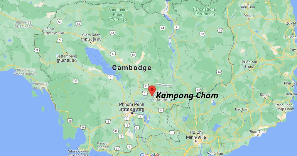 Où se situe Kampong Cham