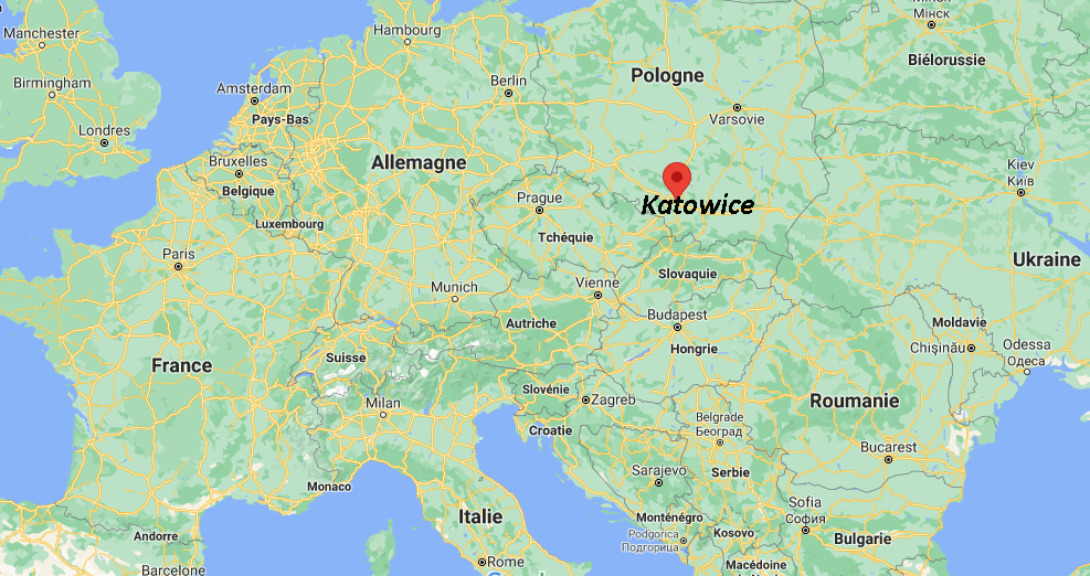 Où se situe Katowice