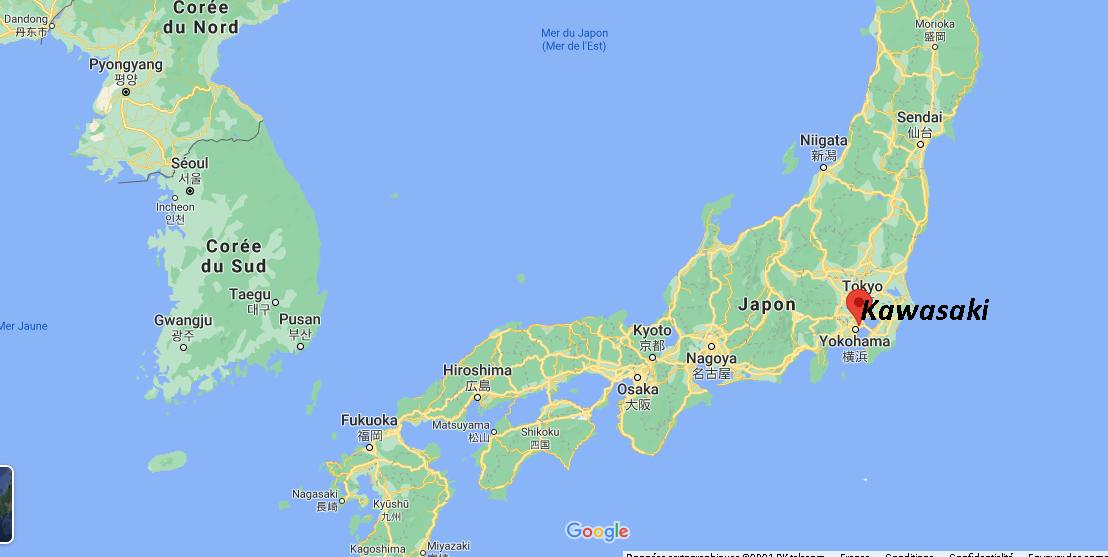 Où se situe Kawasaki