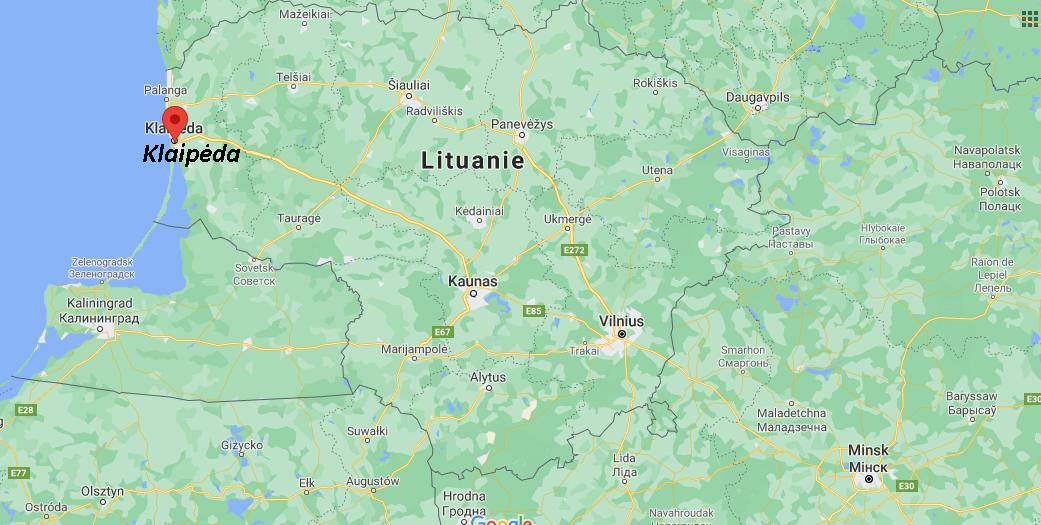 Où se situe Klaipėda