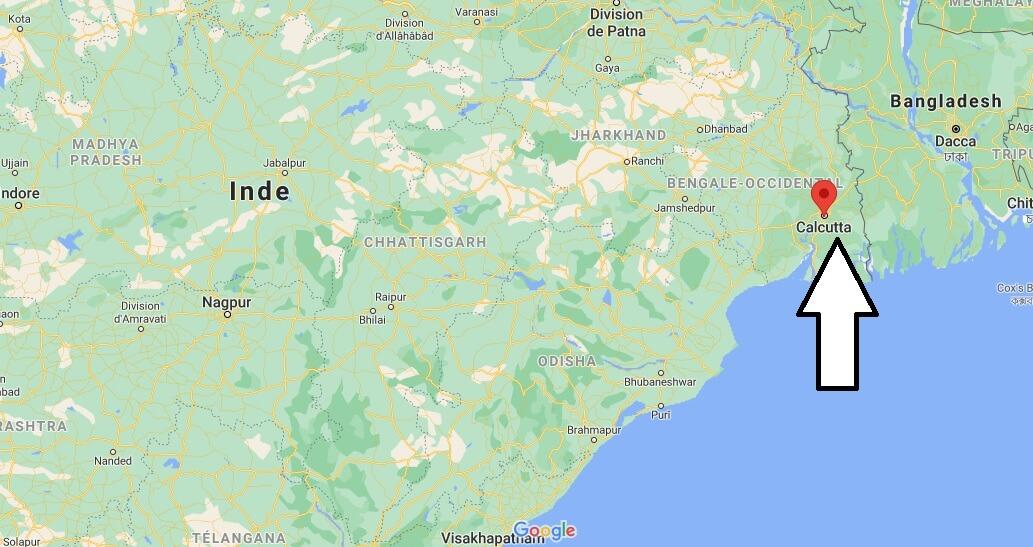 Où se situe Kolkata en Inde