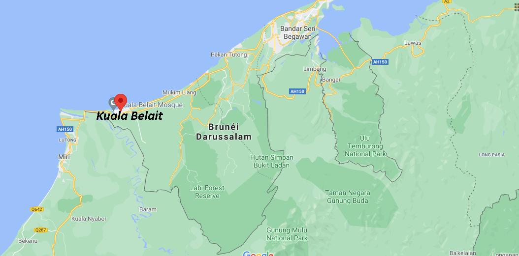 Où se situe Kuala Belait
