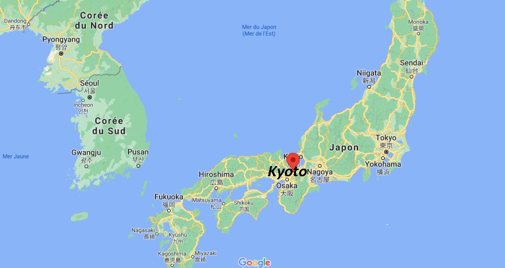 Où se situe Kyoto