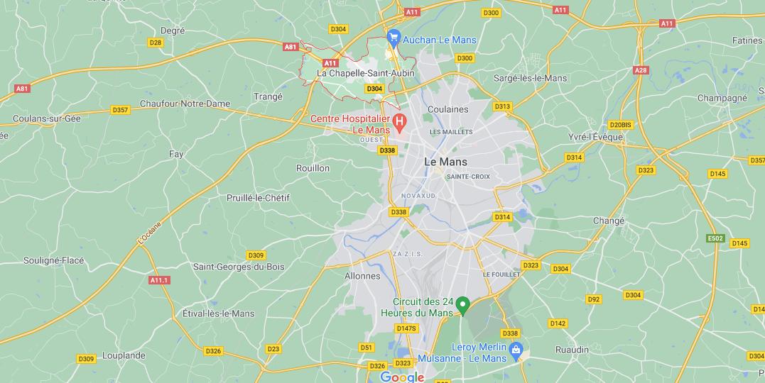 Où se situe La Chapelle-Saint-Aubin (72650)