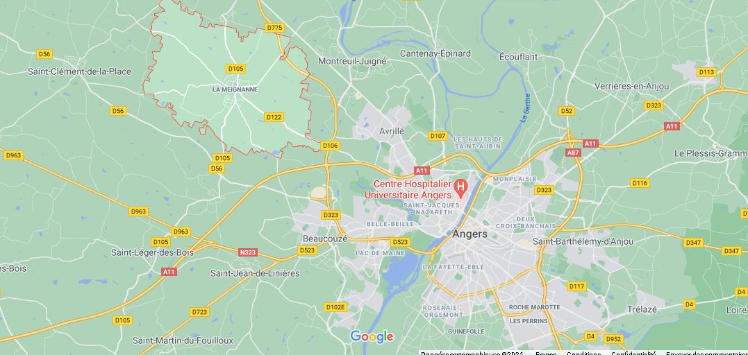 Où se situe La Meignanne (49770)
