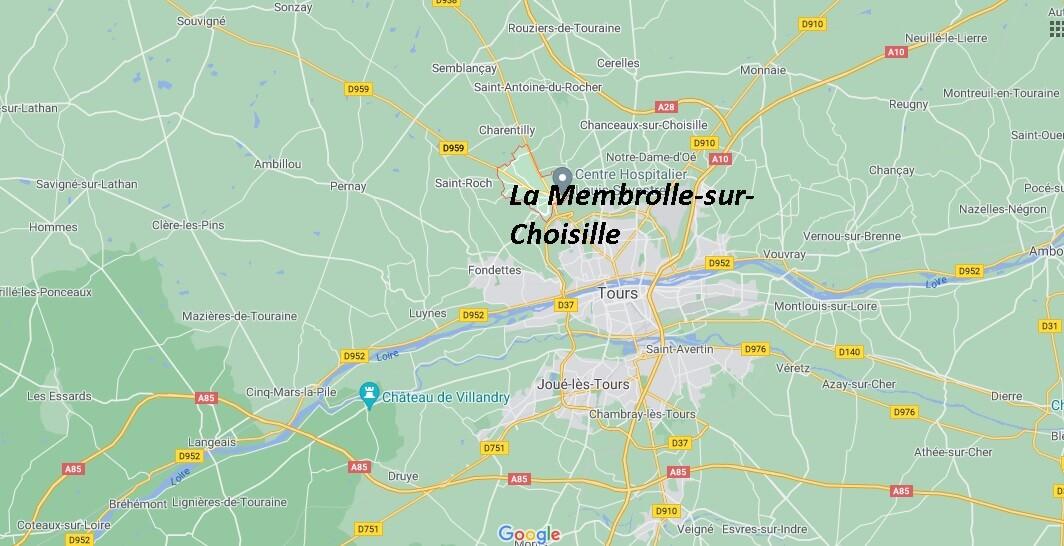 Où se situe La Membrolle-sur-Choisille (Code postal 37390)