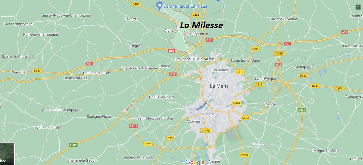 Où se situe La Milesse (72550)