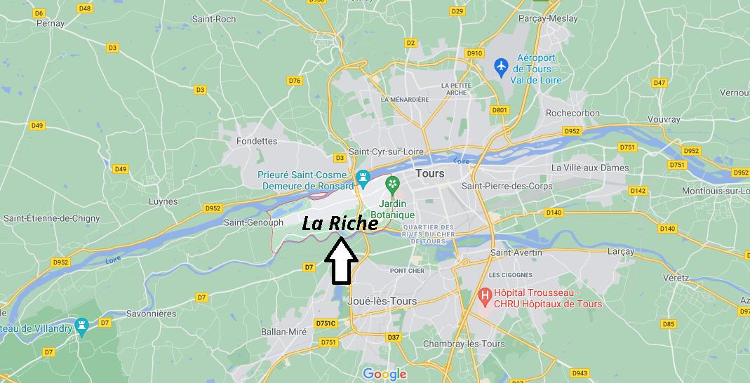 Où se situe La Riche (Code postal 37520)