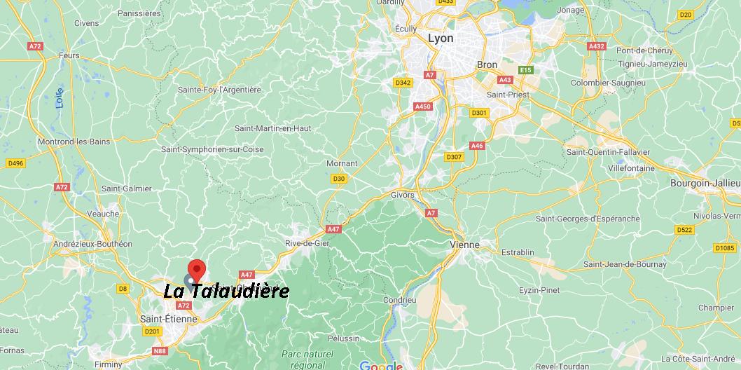 Où se situe La Talaudière (42350)