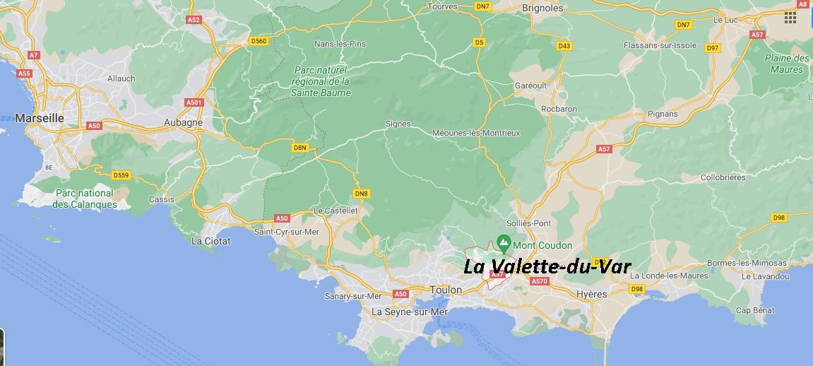 Où se situe La Valette-du-Var (Code postal 83144)