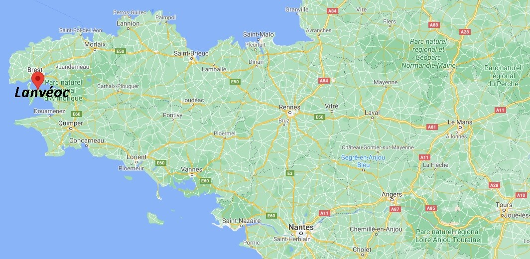 Où se situe Lanvéoc (29160)