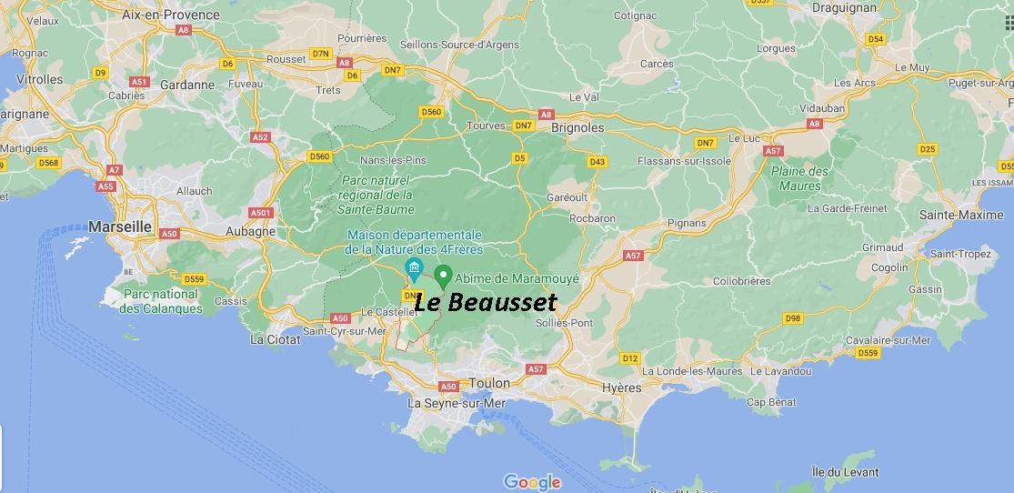 Où se situe Le Beausset (Code postal 83330)