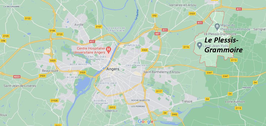 Où se situe Le Plessis-Grammoire (49124)