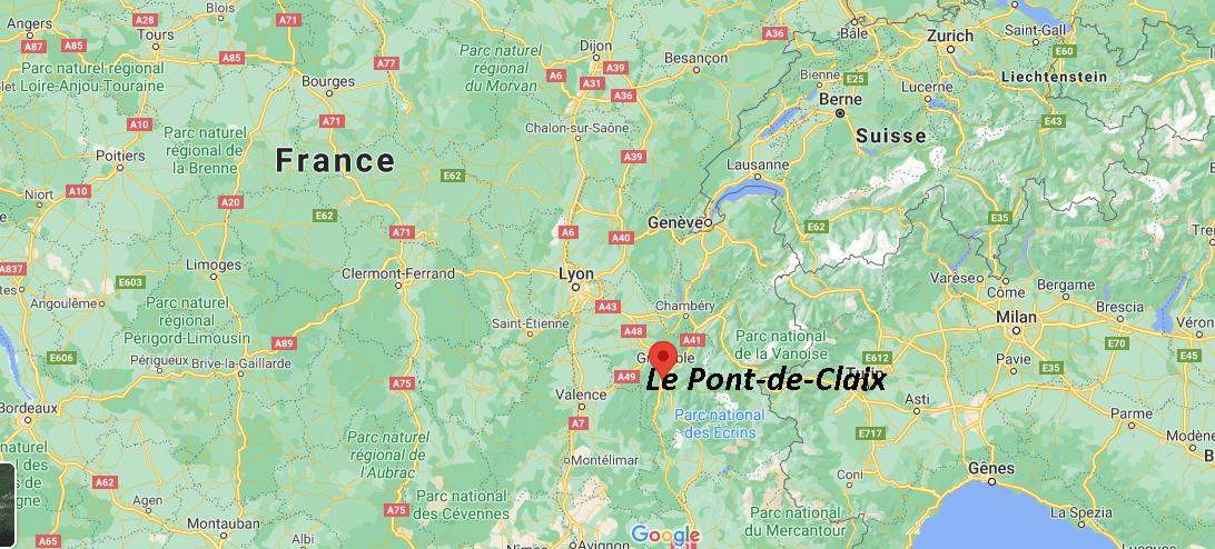 Où se situe Le Pont-de-Claix (38800)