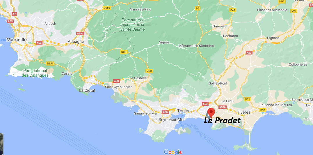 Où se situe Le Pradet (Code postal 83220)