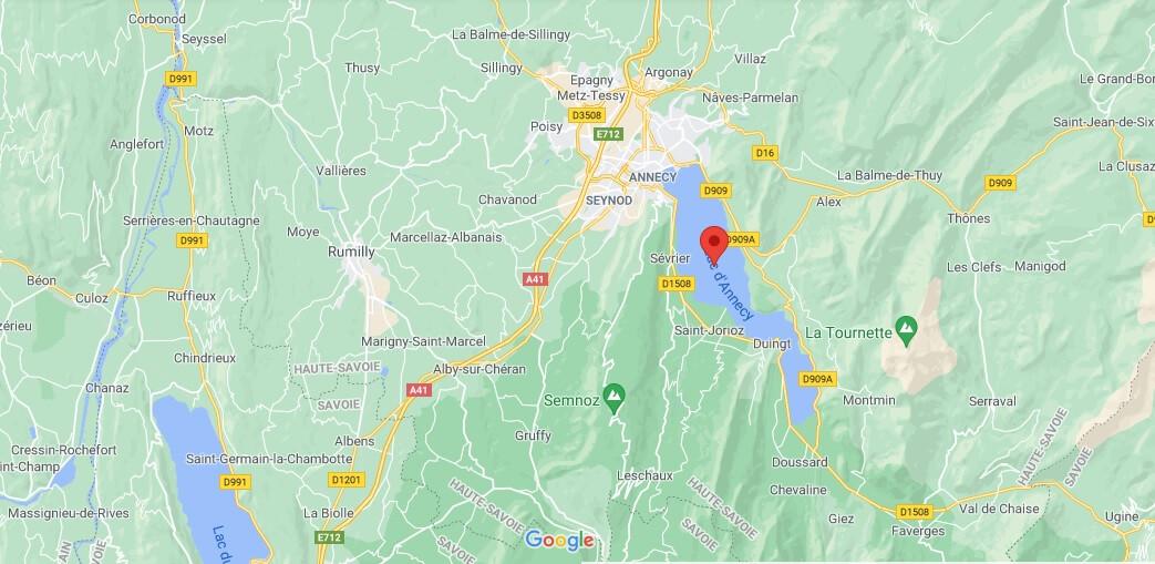 Où se situe Le lac d-Annecy