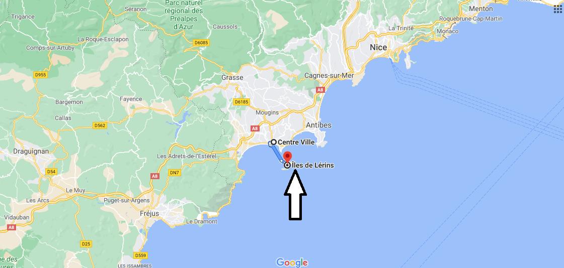 Où se situe Les îles de Lérins