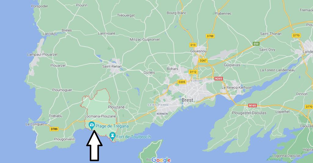 Où se situe Locmaria-Plouzané (29280)