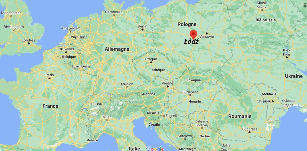 Où se situe Łódź