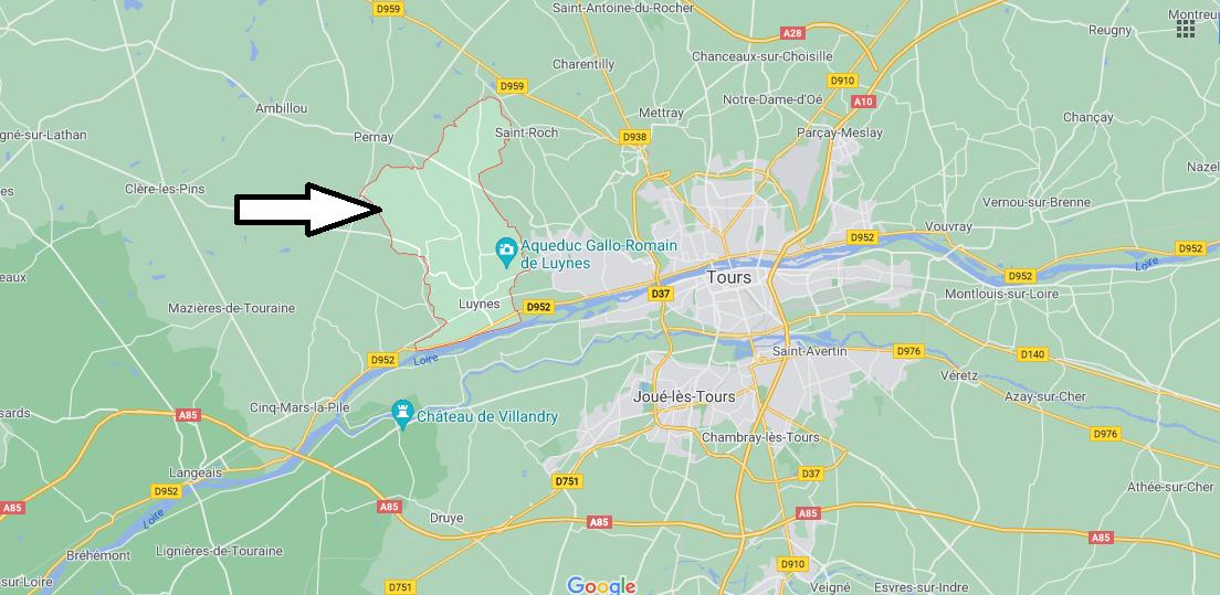 Où se situe Luynes (Code postal 37230)