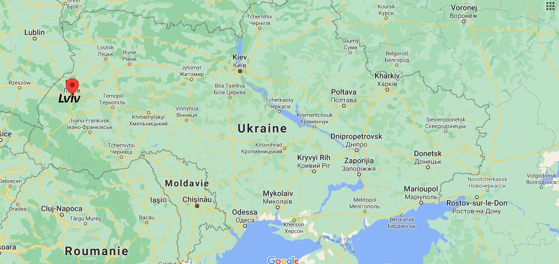Où se situe Lviv