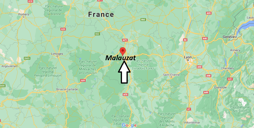 Où se situe Malauzat (Code postal 63200)