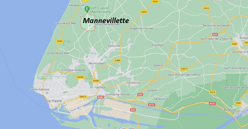 Où se situe Mannevillette (76290)