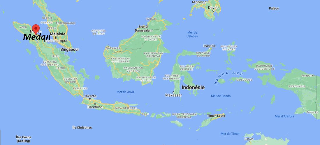 Où se situe Medan
