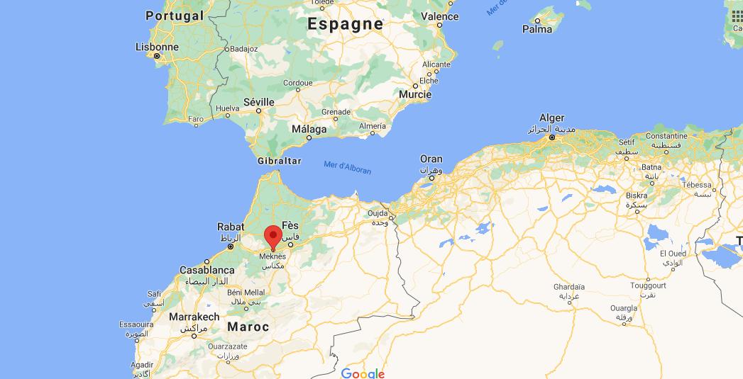 Où se situe Meknès