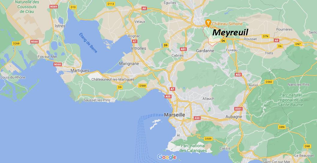 Où se situe Meyreuil (Code postal 13590)