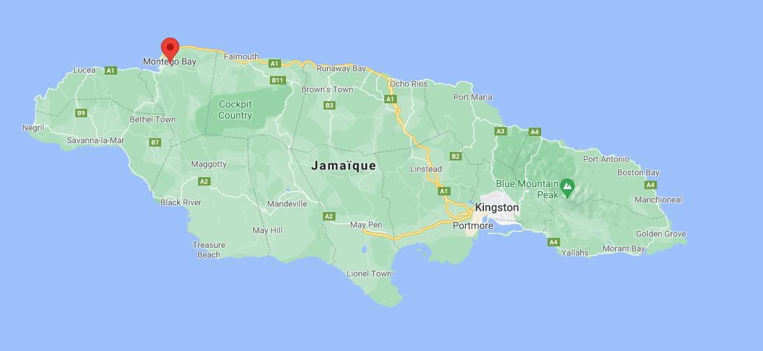 Où se situe Montego Bay