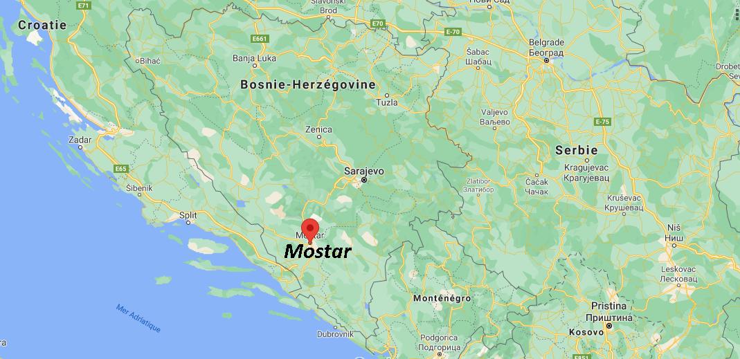 Où se situe Mostar