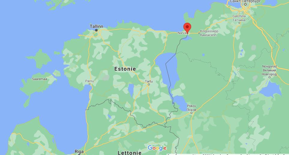 Où se situe Narva