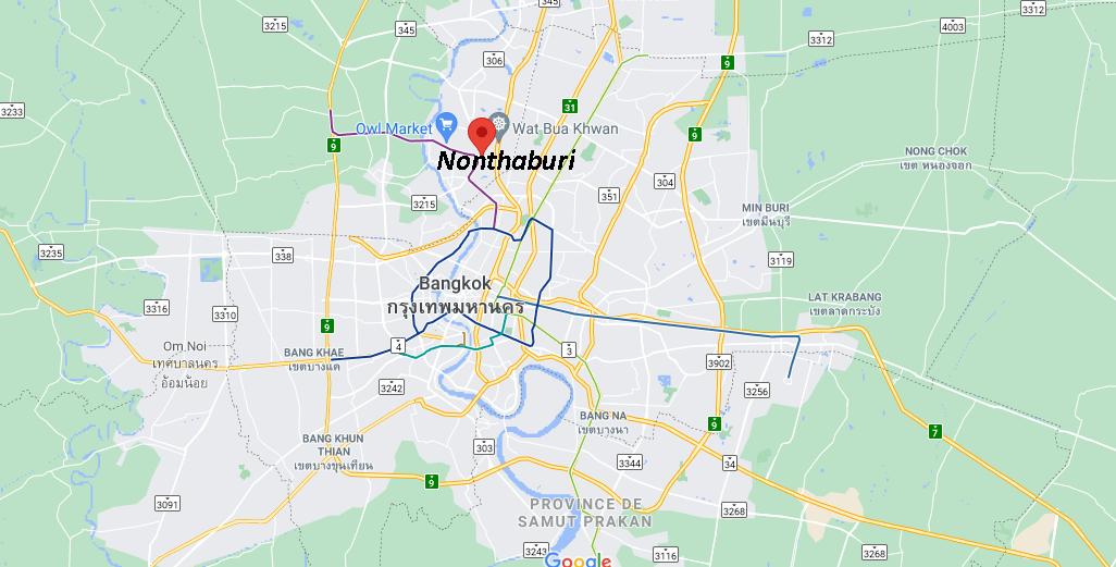 Où se situe Nonthaburi