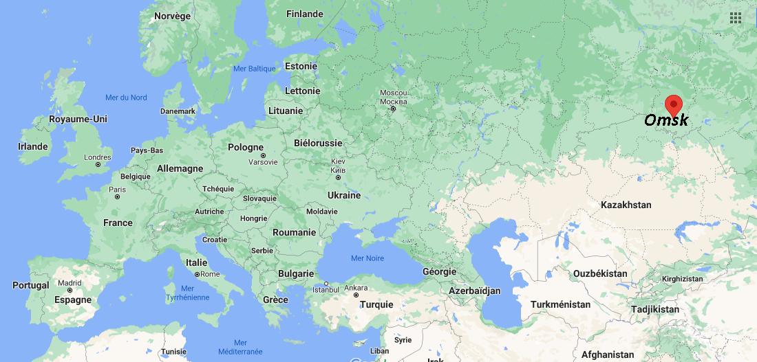 Où se situe Omsk