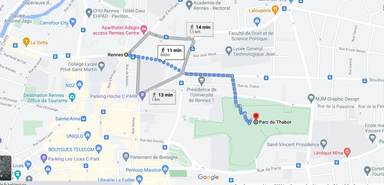 Où se situe Parc du Thabor