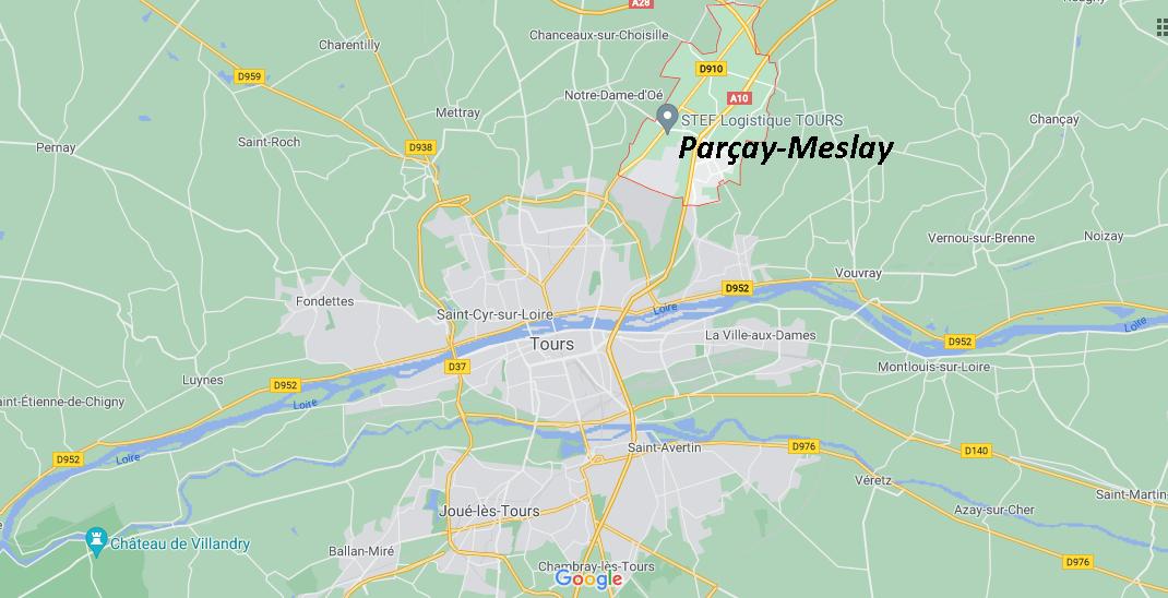 Où se situe Parçay-Meslay (Code postal 37210)