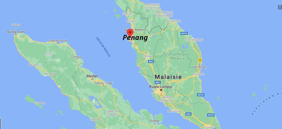 Où se situe Penang