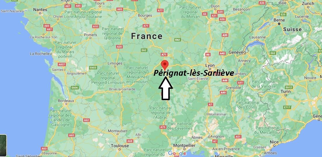 Où se situe Pérignat-lès-Sarliève (Code postal 63170)