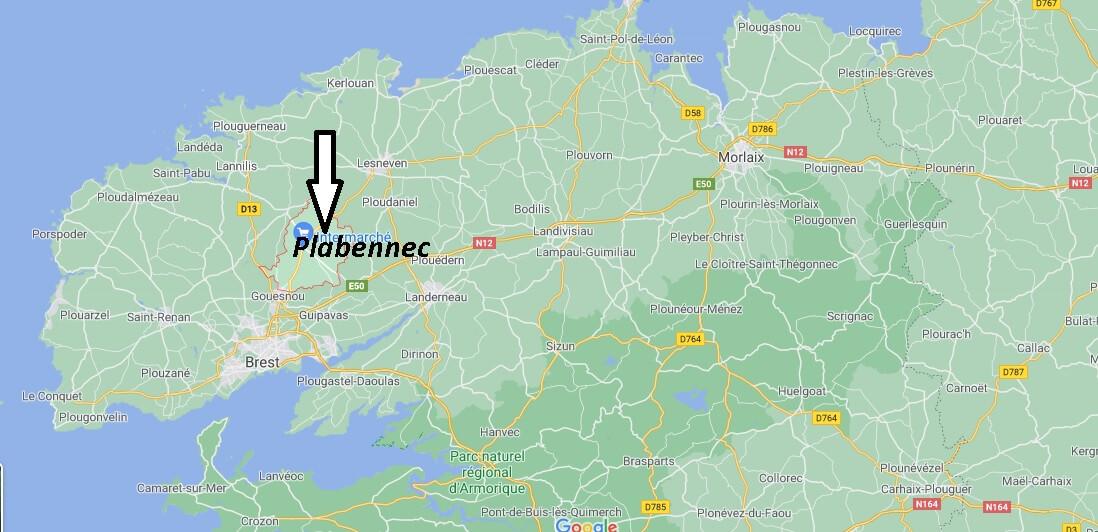 Où se situe Plabennec (29860)