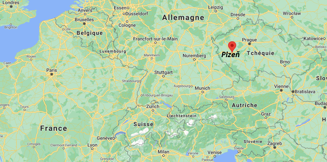 Où se situe Plzeň