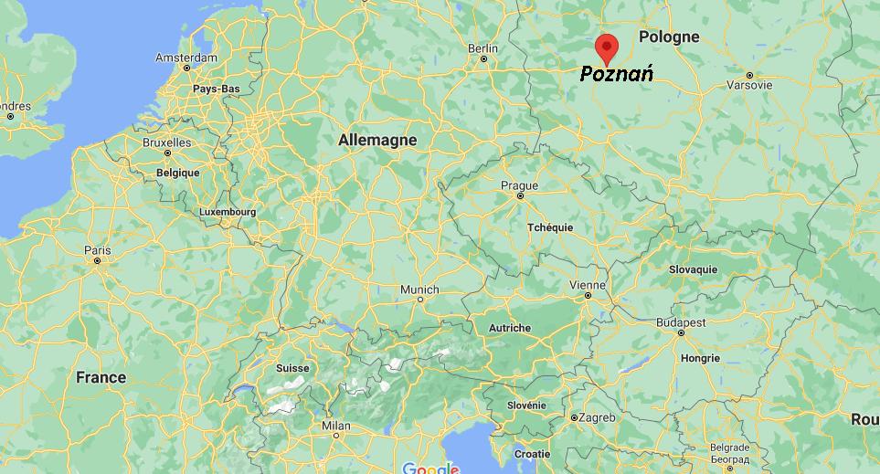 Où se situe Poznań
