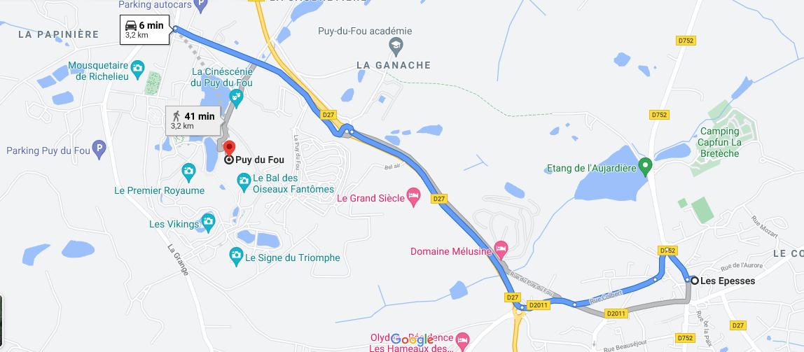 Où se situe Puy du Fou
